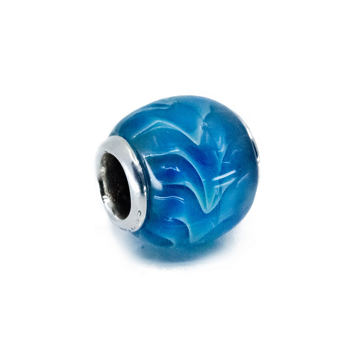Ocean Wave Glass Bead