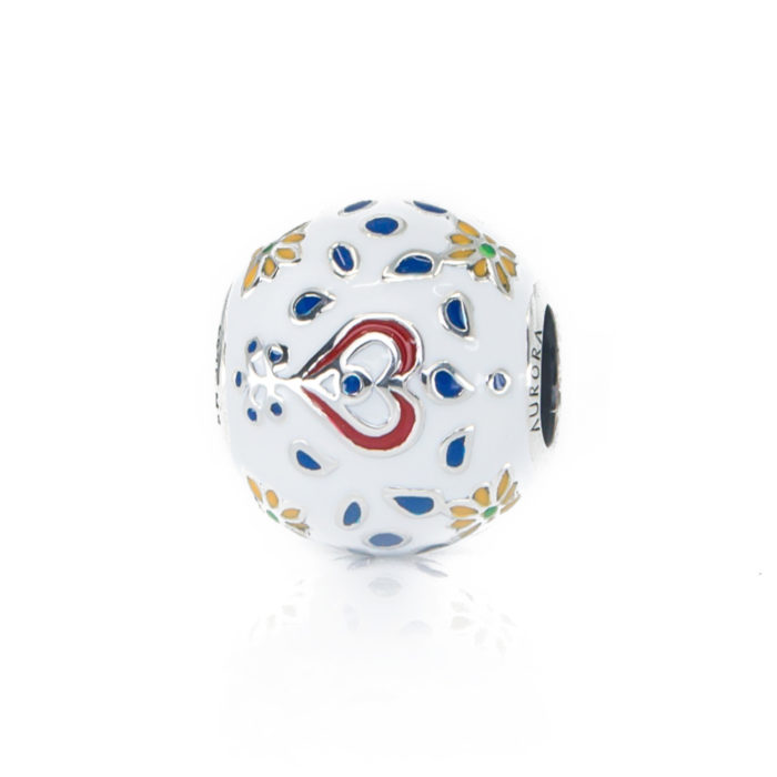 Folklore Hearts Flowers Bead