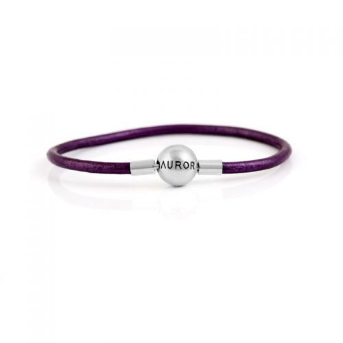 Single Purple Leather Bracelet