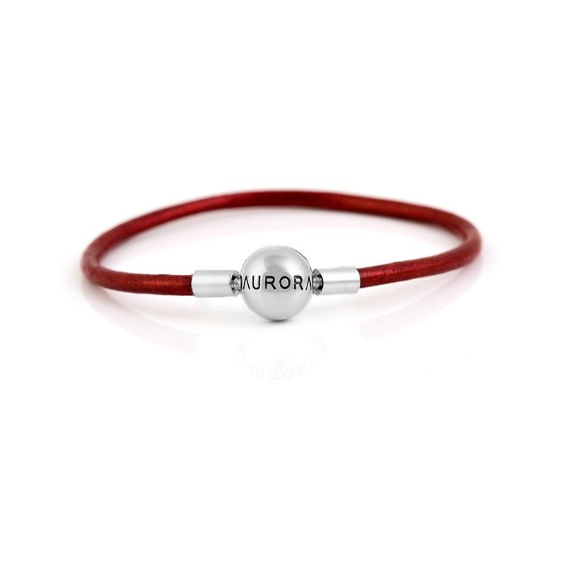 Single Red Leather Bracelet