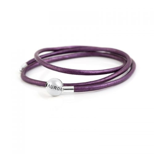 Purple Triple Leather Bracelet