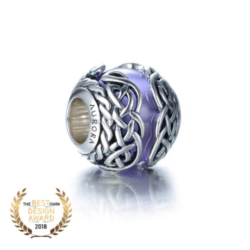 Celtic Mystic Knot – Purple Bead