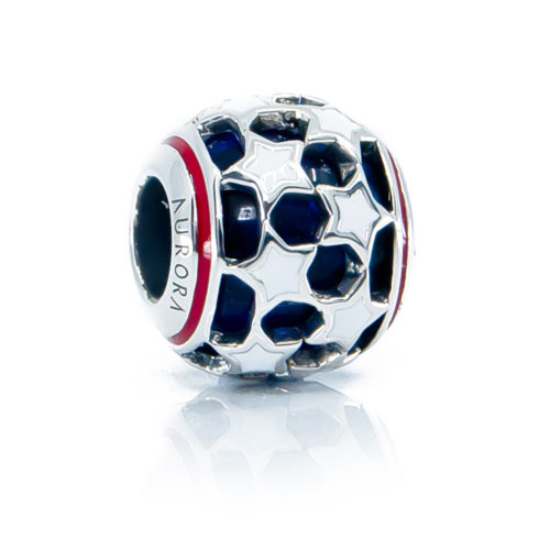 American Patriot Glass Bead