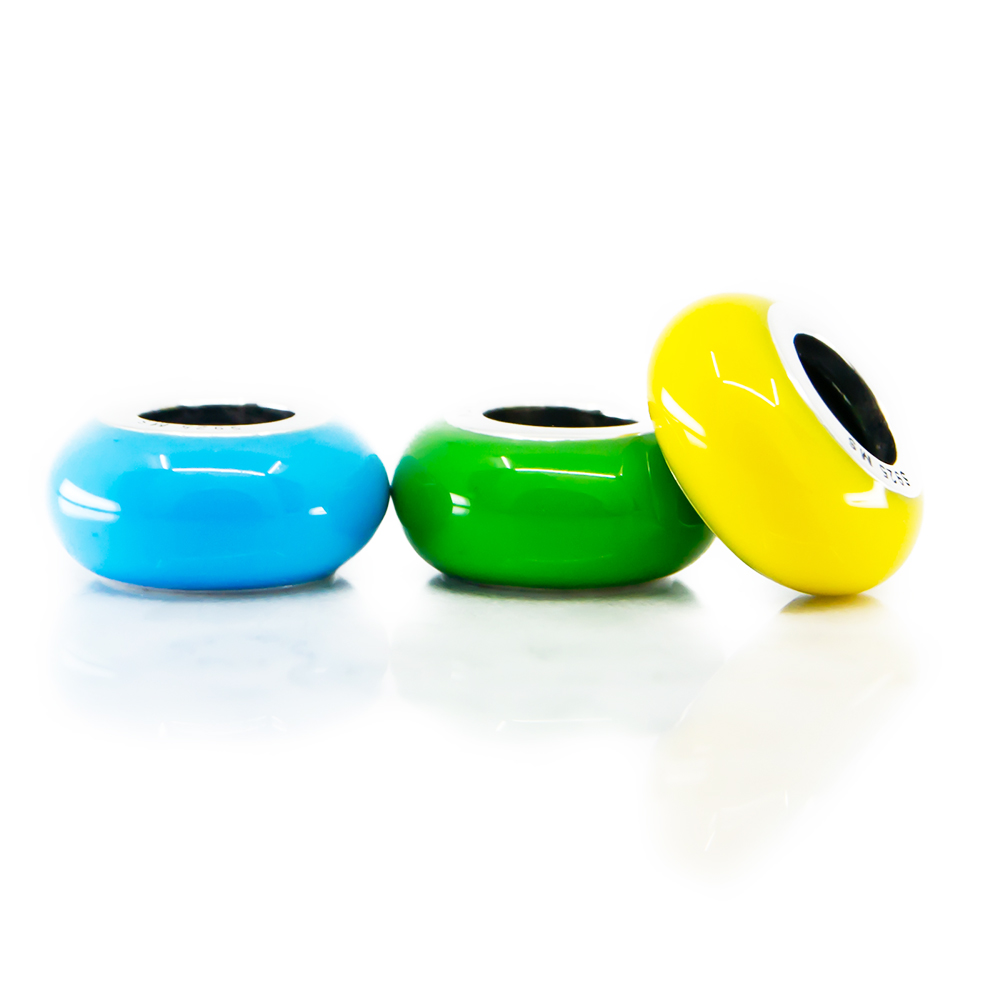 Yellow Green Light Blue Enamel Stopper