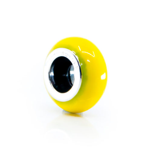 yellow stopper spacer charm