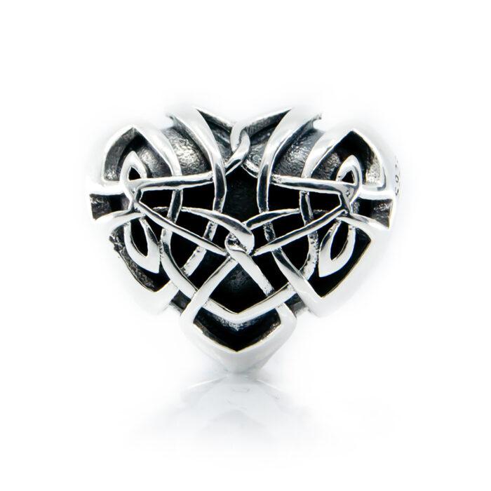 Irish Celtic Heart charm
